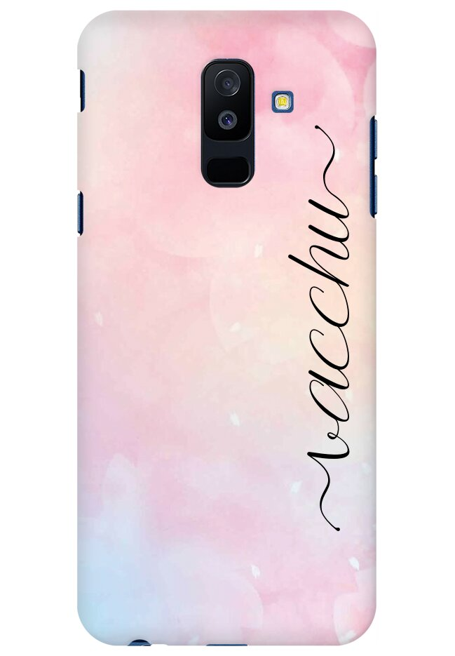 Rainbow Watercolor Name Case for Samsung Galaxy J8