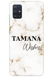 Off White Marble Name Case for Samsung Galaxy A71